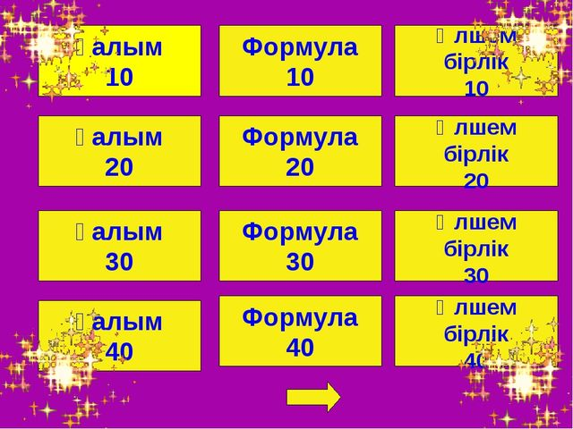 Ғалым 10 Ғалым 20 Ғалым 40 Ғалым 30 Формула 20 Формула 30 Формула 10 Формула...