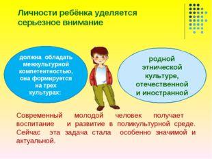 Личности ребёнка уделяется серьезное внимание Современный молодой человек пол