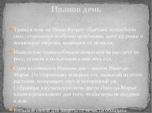 Иванов день Травы в ночь на Ивана Купалу обретают волшебную силу: становятся