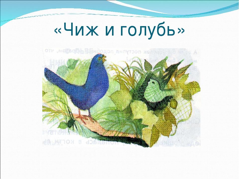 «Чиж и голубь»