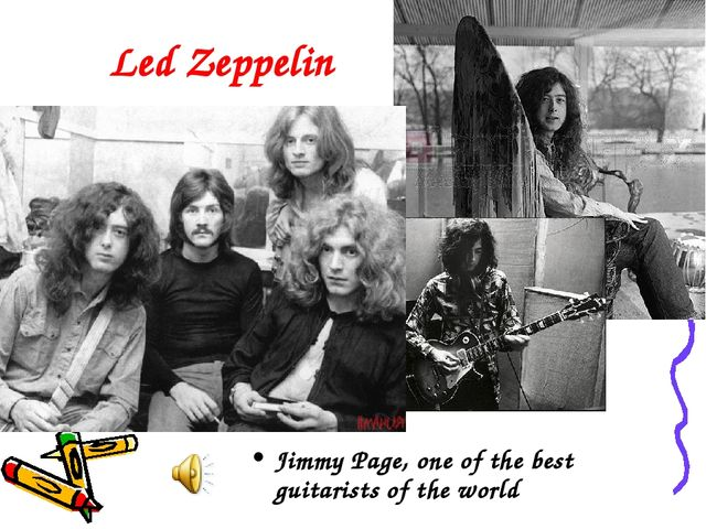 Led Zeppelin Jimmy Page, one of the best guitarists of the world