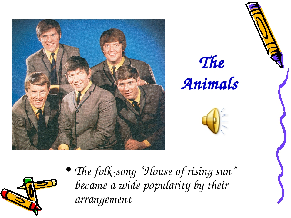 """The Animals The folk-song """"House of rising sun"""" became a wide popularity by t..."""