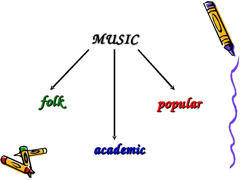 MUSIC popular academic folk