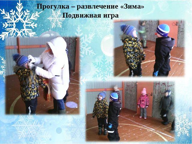 Прогулка – развлечение «Зима» Подвижная игра