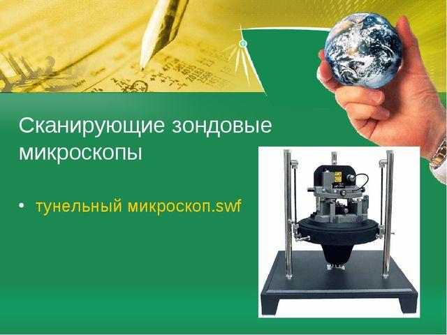 Сканирующие зондовые микроскопы тунельный микроскоп.swf