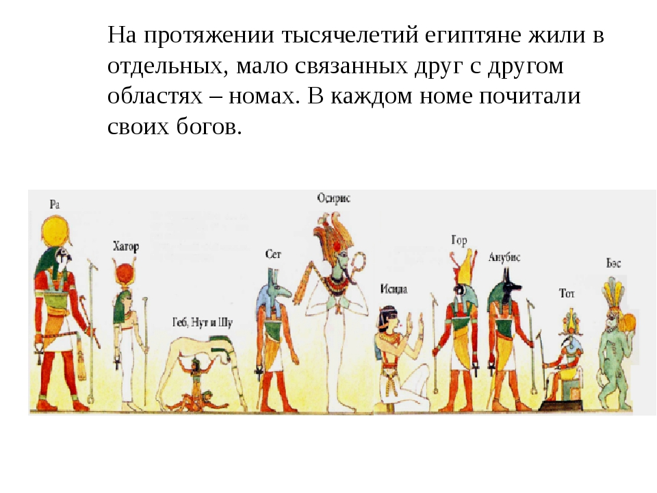 На протяжении тысячелетий египтяне жили в отдельных, мало связанных друг с др...