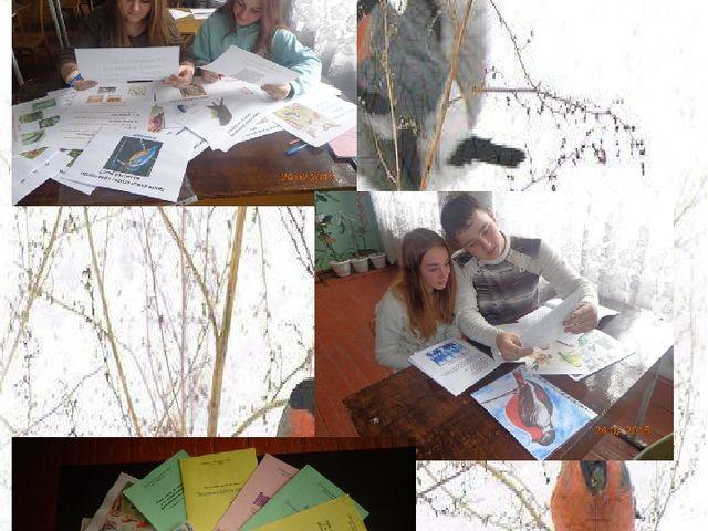 Підготовка учнів 10 класу до вікторини «Подбаємо про птахів взимку разом»