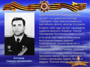 Богорад Самуил Нахманович С.Н. Богорад (1907-1996) - командир Краснознамённой