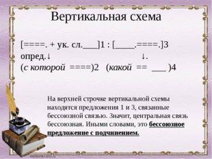 Вертикальная схема [====. + ук. сл.___]1: [____.====.]3 опред.↓  ↓