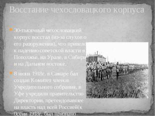 30-тысячный чехословацкий корпус восстал (из-за слухов о его разоружении), чт