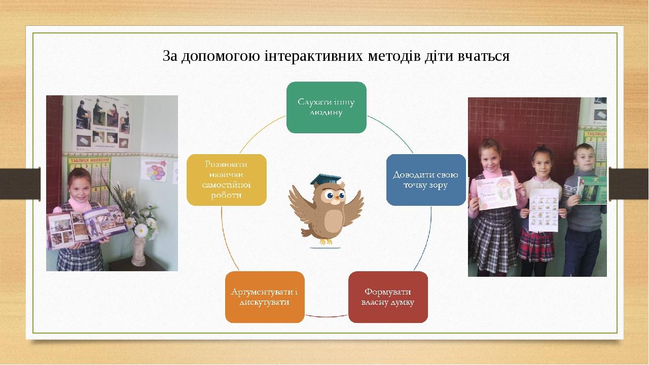 За допомогою інтерактивних методів діти вчаться