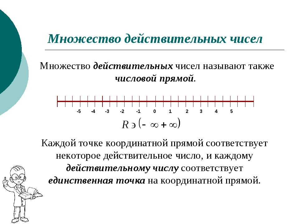 Множество действительных чисел Множество действительных чисел называют также...
