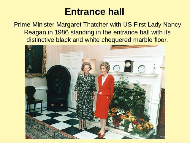 Prime Minister Margaret Thatcher with US First Lady Nancy Reagan in 1986 stan...