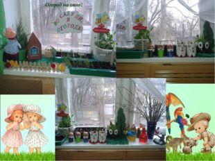 Огород на окне!