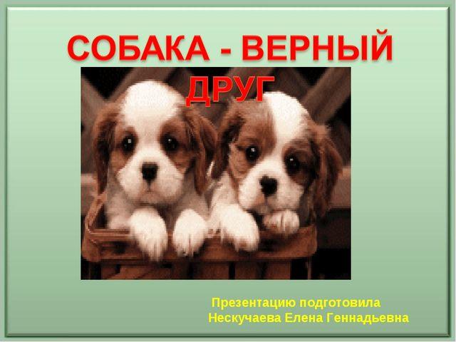 Презентацию подготовила Нескучаева Елена Геннадьевна