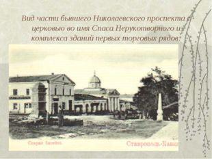 Вид части бывшего Николаевского проспекта с церковью во имя Спаса Нерукотворн