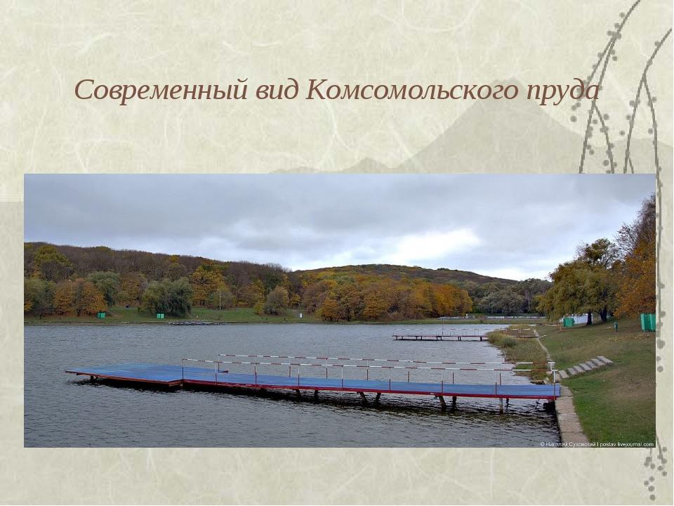 Современный вид Комсомольского пруда