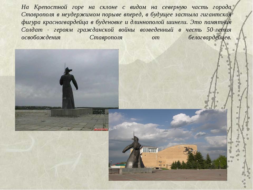 На Крепостной горе на склоне с видом на северную часть города Ставрополя в н...