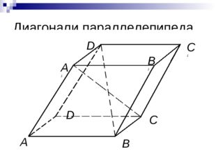 Диагонали параллелепипеда A B C1 C D A1 D1 B1