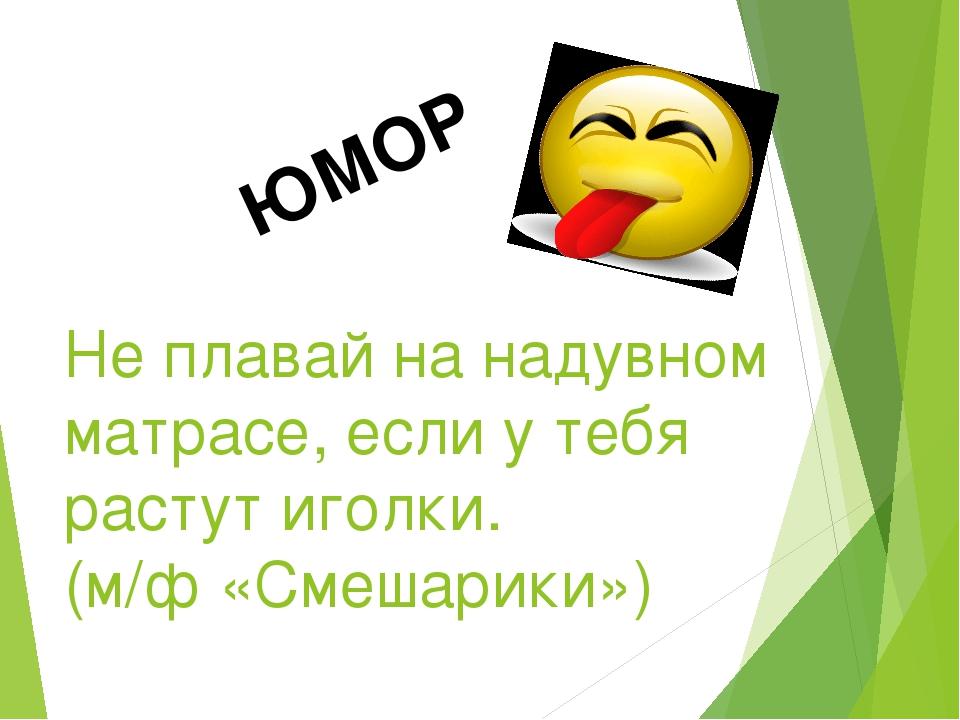 ЮМОР Не плавай на надувном матрасе, если у тебя растут иголки. (м/ф «Смешарик...