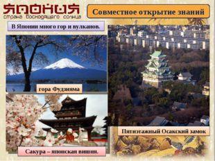 Совместное открытие знаний В Японии много гор и вулканов. гора Фудзияма Сакур