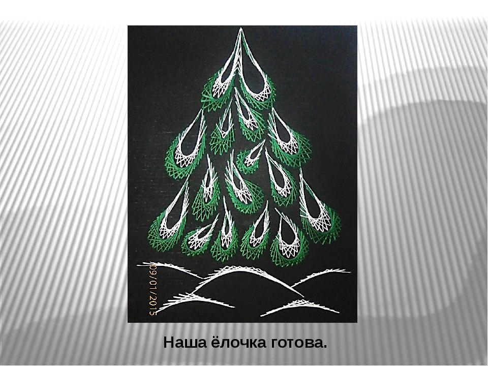 Новогодняя открытка изонить схемы 4 класс