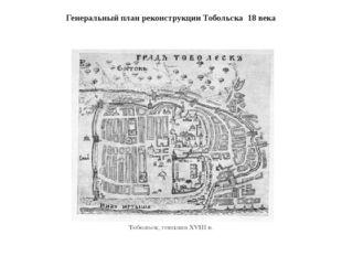 Генеральный план реконструкции Тобольска 18 века