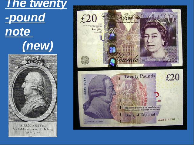 The twenty -pound note (new)