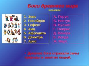 Боги древнего мира (проверка) Зевс Посейдон Гефест Аид Афродита Деметра Арес