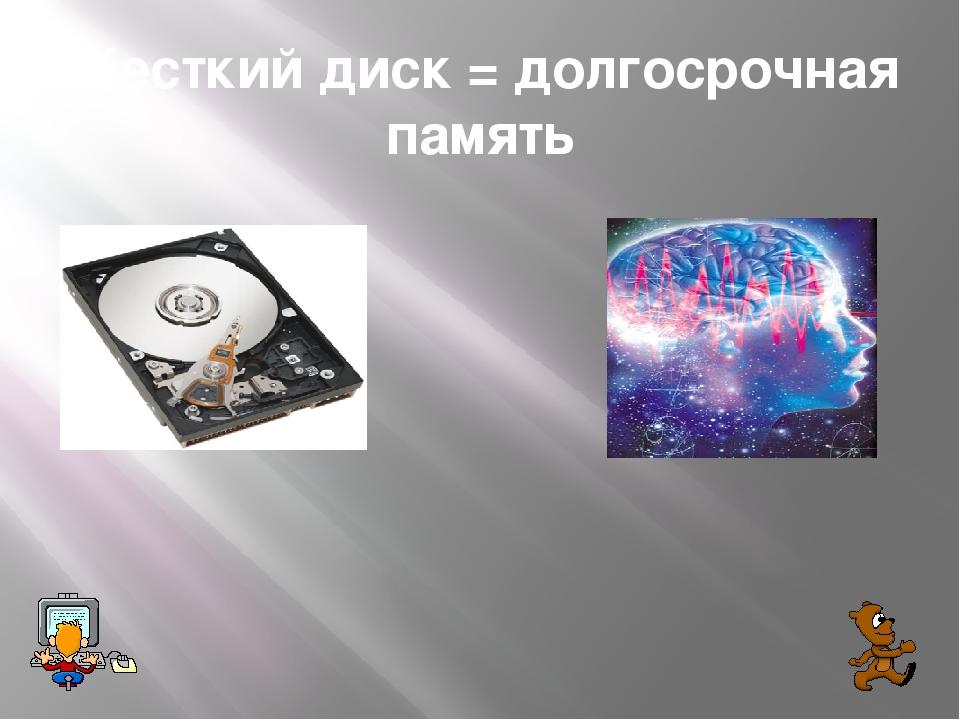 Жесткий диск = долгосрочная память