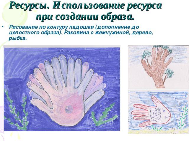 Ресурсы. Использование ресурса при создании образа. Рисование по контуру ладо...