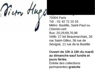 Votre visite à la Maison de Victor Hugo (Paris) Hôtel de Rohan-Guéménée 6, p