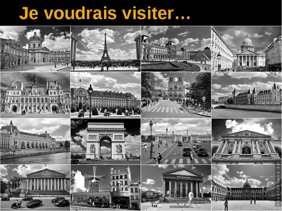 Je voudrais visiter…