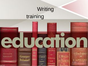 Writing training