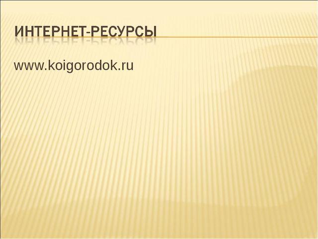 www.koigorodok.ru
