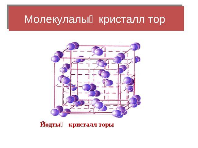 Молекулалық кристалл тор Йодтың кристалл торы