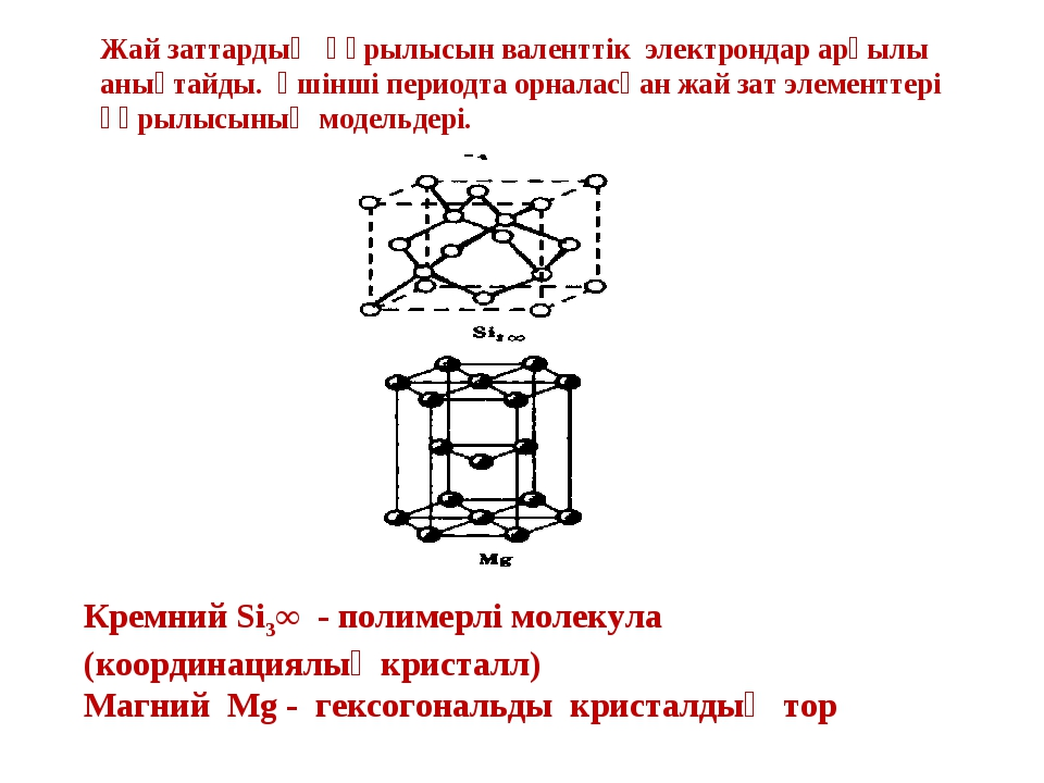 Жай заттардың құрылысын валенттік электрондар арқылы анықтайды. Үшінші период...