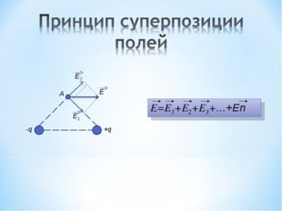 E1 E2 E A -q +q E=E1+E2+E3+…+En