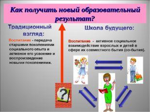 Воспитание - активное социальное взаимодействие взрослых и детей в сфере их с