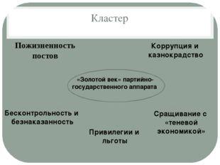 Кластер Пожизненность постов «Золотой век» партийно- государственного аппарат