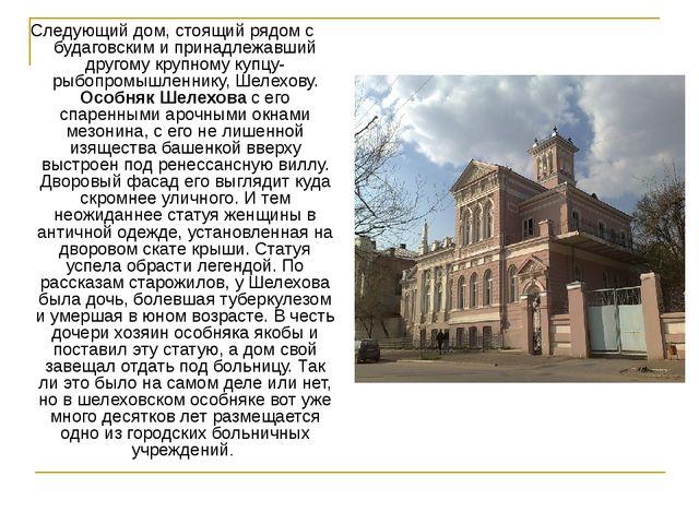 Следующий дом, стоящий рядом с будаговским и принадлежавший другому крупному...