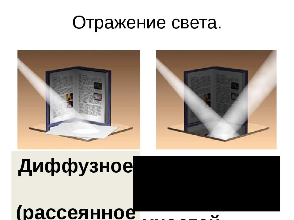 Отражение света. Свет по разному отражается от разных поверхностей Диффузное...