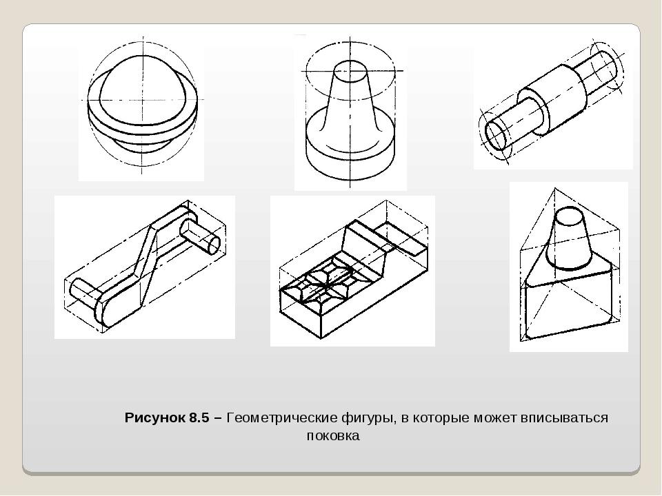 Рисунок 8.5 – Геометрические фигуры, в которые может вписываться поковка