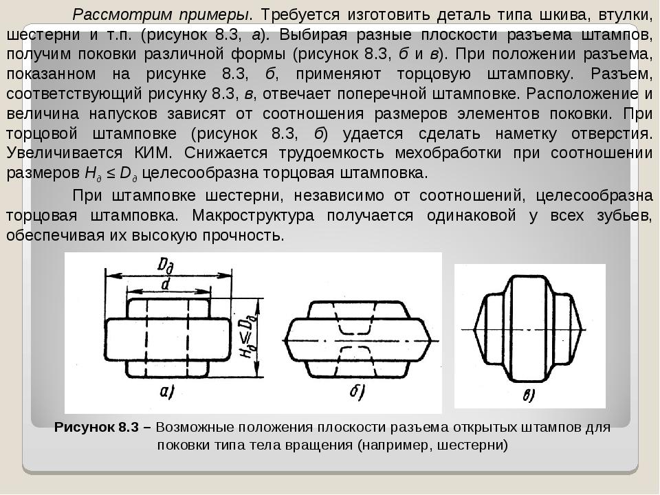 Рассмотрим примеры. Требуется изготовить деталь типа шкива, втулки, шестерни...