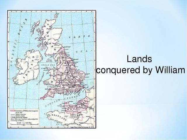 Lands conquered by William