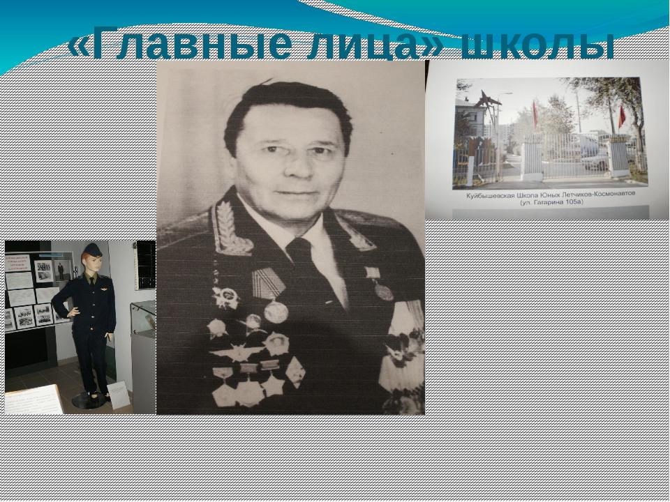 «Главные лица» школы Основатель и первый директор школы юных летчиков-космон...
