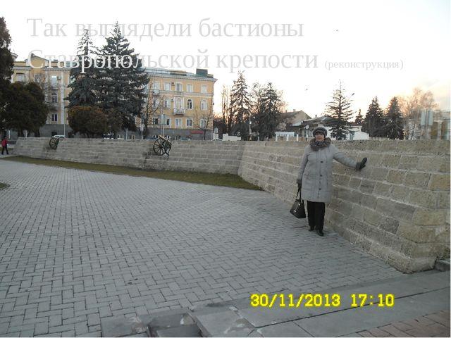 Так выглядели бастионы Ставропольской крепости (реконструкция)