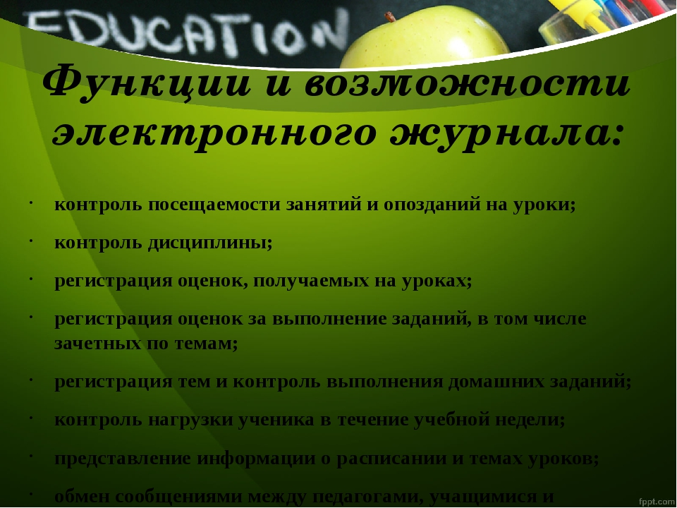 контроль посещаемости занятий и опозданий на уроки; контроль дисциплины; реги...