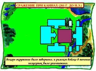 СРАЖЕНИЕ ПРИ КАННАХ (261 Г. ДО Н.Э.) Вскоре окружение было завершено, и римск