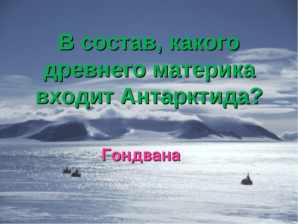 В состав, какого древнего материка входит Антарктида? Гондвана